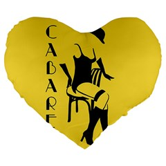 Cabaret Large 19  Premium Heart Shape Cushions by Valentinaart