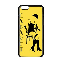 Cabaret Apple Iphone 6/6s Black Enamel Case by Valentinaart