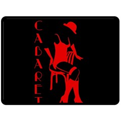 Cabaret Double Sided Fleece Blanket (large)  by Valentinaart