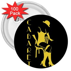 Cabaret 3  Buttons (100 Pack)  by Valentinaart