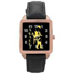 Cabaret Rose Gold Leather Watch