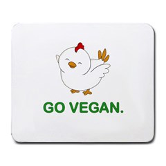 Go Vegan   Cute Chick  Large Mousepads