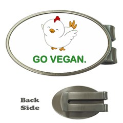 Go Vegan   Cute Chick  Money Clips (oval)  by Valentinaart