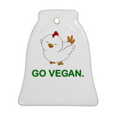 Go Vegan - Cute Chick  Bell Ornament (two Sides) by Valentinaart