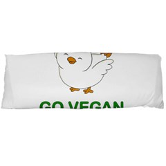 Go Vegan   Cute Chick  Body Pillow Case Dakimakura (two Sides) by Valentinaart