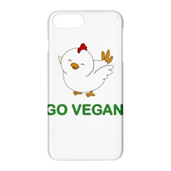 Go Vegan   Cute Chick  Apple Iphone 7 Plus Hardshell Case