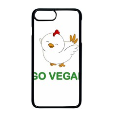 Go Vegan   Cute Chick  Apple Iphone 8 Plus Seamless Case (black) by Valentinaart