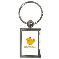 Go Vegan   Cute Chick  Key Chains (rectangle)