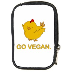 Go Vegan - Cute Chick  Compact Camera Cases by Valentinaart