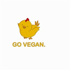 Go Vegan   Cute Chick  Large Garden Flag (two Sides) by Valentinaart