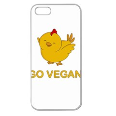 Go Vegan   Cute Chick  Apple Seamless Iphone 5 Case (clear)