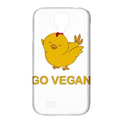 Go Vegan   Cute Chick  Samsung Galaxy S4 Classic Hardshell Case (pc+silicone) by Valentinaart