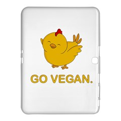 Go Vegan   Cute Chick  Samsung Galaxy Tab 4 (10 1 ) Hardshell Case  by Valentinaart