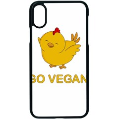Go Vegan   Cute Chick  Apple Iphone X Seamless Case (black) by Valentinaart