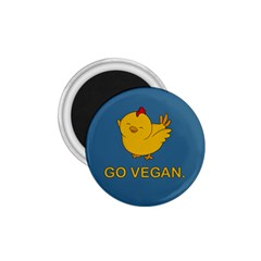 Go Vegan   Cute Chick  1 75  Magnets