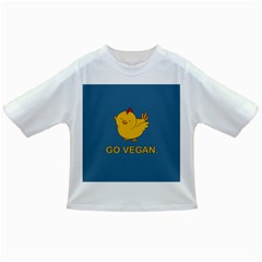 Go Vegan   Cute Chick  Infant/toddler T Shirts