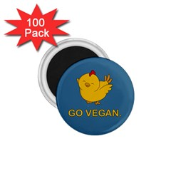 Go Vegan   Cute Chick  1 75  Magnets (100 Pack)  by Valentinaart