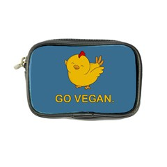 Go Vegan - Cute Chick  Coin Purse by Valentinaart