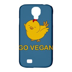 Go Vegan   Cute Chick  Samsung Galaxy S4 Classic Hardshell Case (pc+silicone)