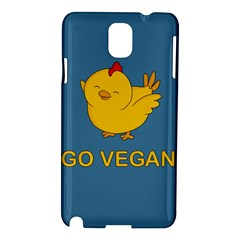 Go Vegan   Cute Chick  Samsung Galaxy Note 3 N9005 Hardshell Case