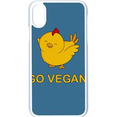 Go Vegan   Cute Chick  Apple Iphone X Seamless Case (white) by Valentinaart