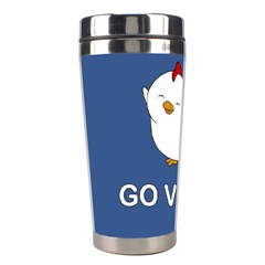 Go Vegan   Cute Chick  Stainless Steel Travel Tumblers by Valentinaart