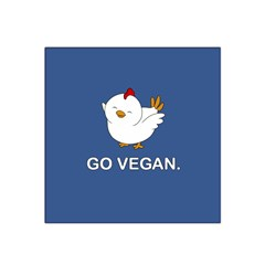Go Vegan   Cute Chick  Satin Bandana Scarf