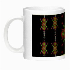 Paradise Flowers In A Decorative Jungle Night Luminous Mugs by pepitasart
