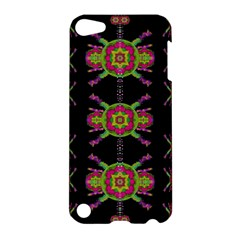 Paradise Flowers In A Decorative Jungle Apple Ipod Touch 5 Hardshell Case by pepitasart