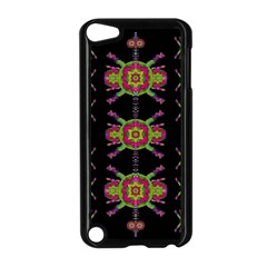 Paradise Flowers In A Decorative Jungle Apple Ipod Touch 5 Case (black) by pepitasart