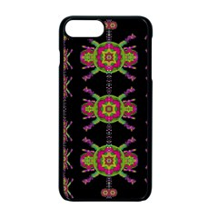 Paradise Flowers In A Decorative Jungle Apple Iphone 7 Plus Seamless Case (black) by pepitasart