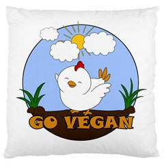 Go Vegan   Cute Chick  Standard Flano Cushion Case (one Side)