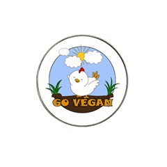 Go Vegan   Cute Chick  Hat Clip Ball Marker (4 Pack) by Valentinaart