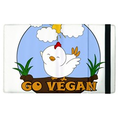 Go Vegan   Cute Chick  Apple Ipad 2 Flip Case by Valentinaart