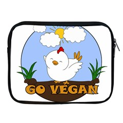 Go Vegan   Cute Chick  Apple Ipad 2/3/4 Zipper Cases by Valentinaart
