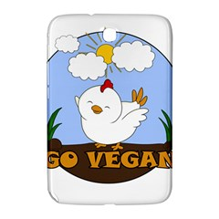 Go Vegan   Cute Chick  Samsung Galaxy Note 8 0 N5100 Hardshell Case