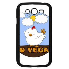 Go Vegan - Cute Chick  Samsung Galaxy Grand Duos I9082 Case (black) by Valentinaart