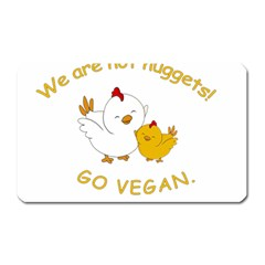 Go Vegan   Cute Chick  Magnet (rectangular) by Valentinaart