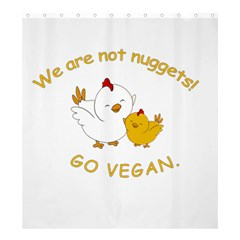 Go Vegan   Cute Chick  Shower Curtain 66  X 72  (large)  by Valentinaart