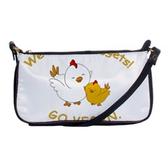 Go Vegan   Cute Chick  Shoulder Clutch Bags by Valentinaart
