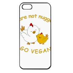 Go Vegan   Cute Chick  Apple Iphone 5 Seamless Case (black) by Valentinaart