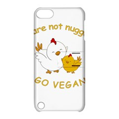 Go Vegan   Cute Chick  Apple Ipod Touch 5 Hardshell Case With Stand
