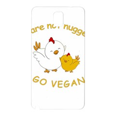 Go Vegan   Cute Chick  Samsung Galaxy Note 3 N9005 Hardshell Back Case by Valentinaart