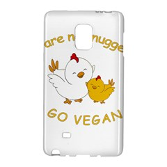 Go Vegan   Cute Chick  Galaxy Note Edge by Valentinaart