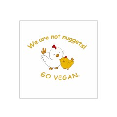 Go Vegan   Cute Chick  Satin Bandana Scarf by Valentinaart