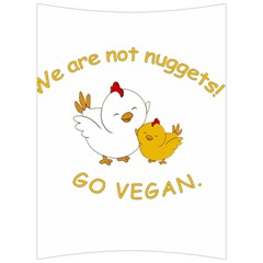 Go Vegan   Cute Chick  Back Support Cushion by Valentinaart