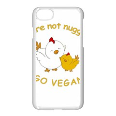 Go Vegan   Cute Chick  Apple Iphone 8 Seamless Case (white) by Valentinaart