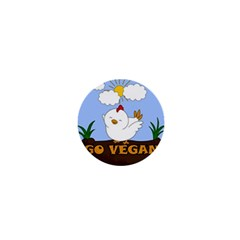 Go Vegan   Cute Chick  1  Mini Buttons by Valentinaart