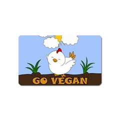 Go Vegan   Cute Chick  Magnet (name Card) by Valentinaart
