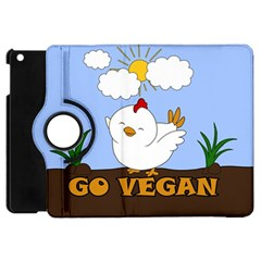 Go Vegan   Cute Chick  Apple Ipad Mini Flip 360 Case